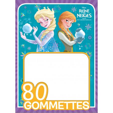 REINE DES NEIGES - 80 Gommettes (violet)