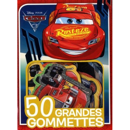 CARS - 50 grandes gommettes