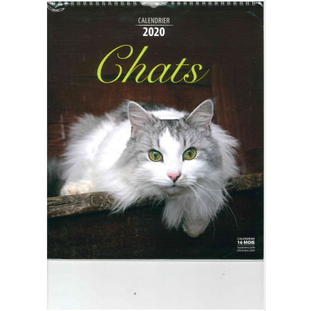 Calendrier 2020 - CHATS