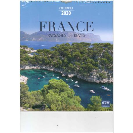 Achat Calendrier 2020.Calendrier 2020 France Paysages De Reves