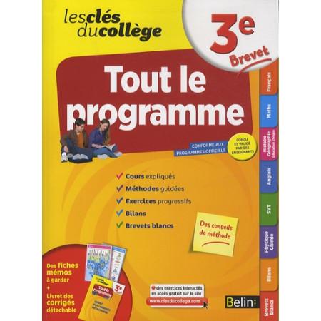 Les Clés du collège - Tout le programme 3e