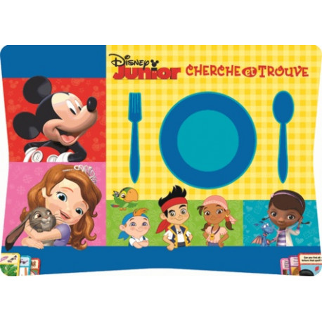 Disney Junior Cherche et Trouve - 76 sets de table détachables
