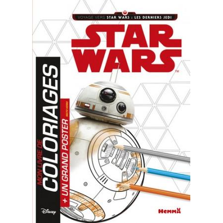 Mon livre de coloriage Star Wars Les derniers Jedi