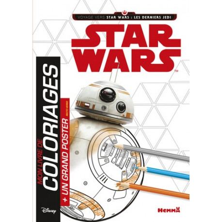 Jeunesse Mon Livre De Coloriage Star Wars Les Derniers Jedi 978