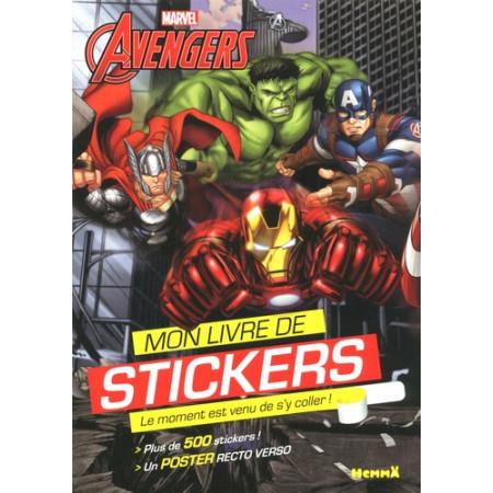 Mon livre de stickers Avengers - Avec poster géant recto-verso