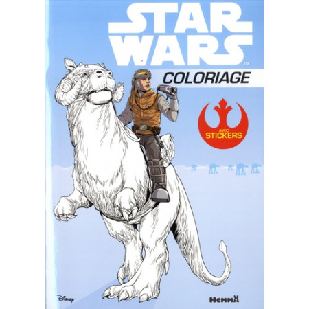 Star Wars - Coloriage avec stickers