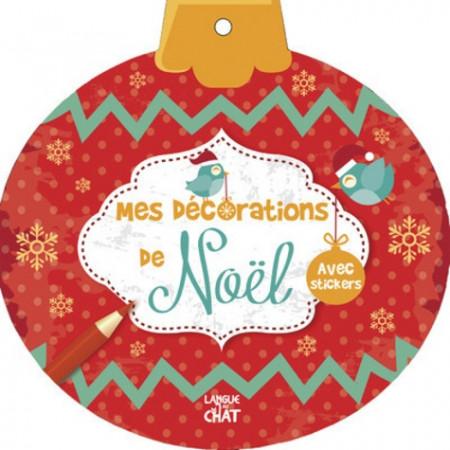 Mes décorations de Noël (rouge) - Avec stickers