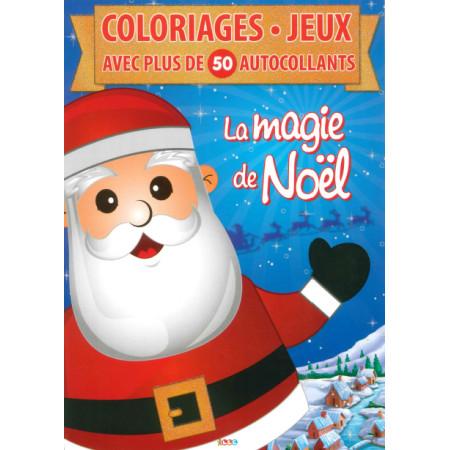 La magie de Noël Coloriages Jeux + de 50 autocollants