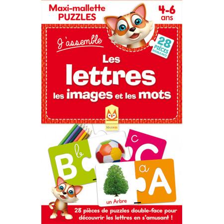 Maxi-mallette puzzles Les lettres les images et les mots