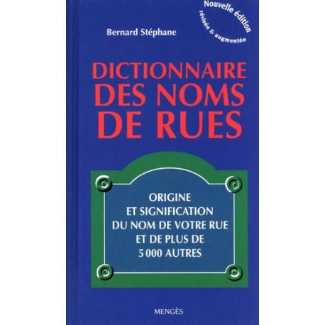 Dictionnaire des noms de rues
