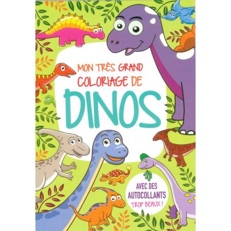 Mon très grand coloriage de Dinos avec autocollants