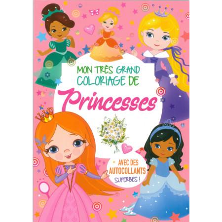 Mon très grand coloriage de princesses avec autocollants