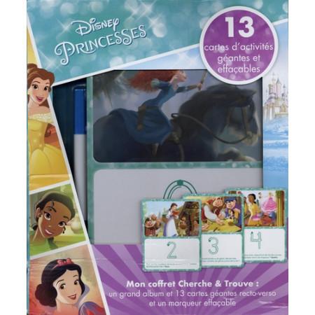 Disney Princesses - Avec 1 feutre, 13 cartes d'activités géantes effaçables