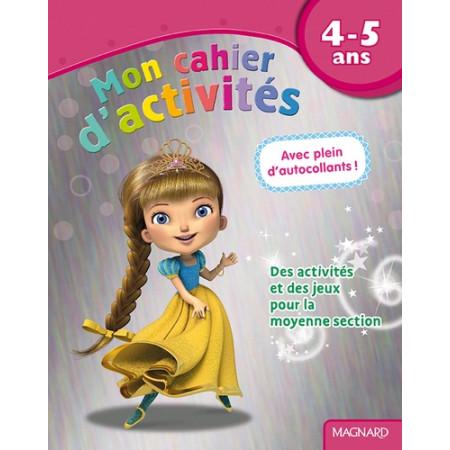 Mon cahier d'activités princesse 4-5 ans