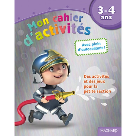 Mon cahier d'activités Pompier - 3-4 ans