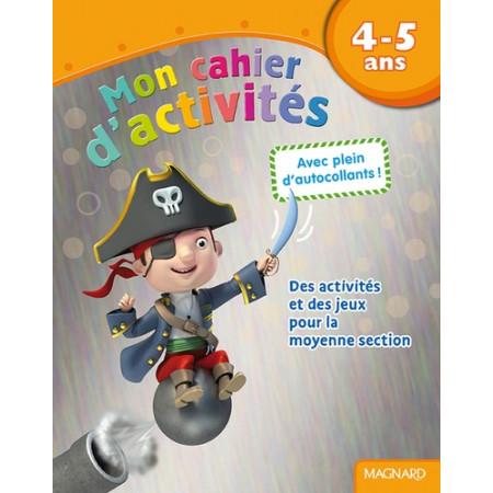 Mon cahier d'activités Pirate - 4-5 ans