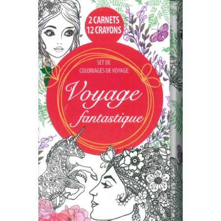 Set de coloriages de voyage à colorier Voyage fantastique