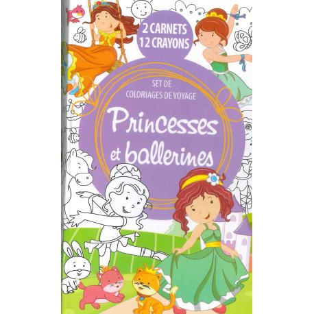 Set de coloriages de voyage à colorier Princesses et ballerines