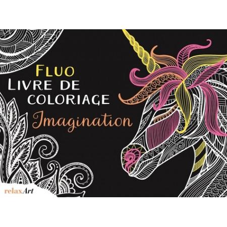 Fluo livre de coloriage imagination (Edition anglaise)