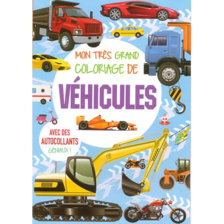 Mon très grand coloriage de véhicules