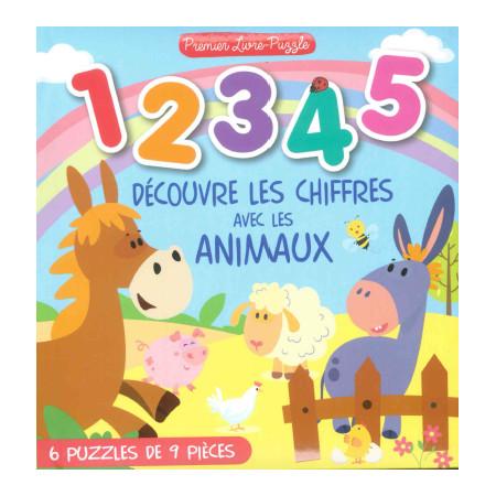 1 2 3 4 2 Découvre les chiffres avec les animaux Livre puzzle