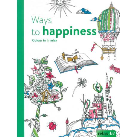 Chemins vers le bonheur Color thérapie Ed anglaise