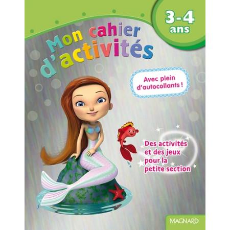 Mon cahier d'activités Sirène - 3-4 ans