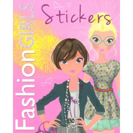 Fashion Girls Stickers (rose )