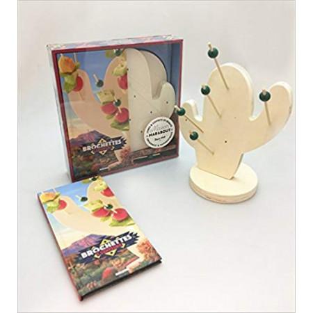 Brochettes & compagnie - Avec 1 cactus de présentation, 20 brochettes en bois et 1 livre de recettes