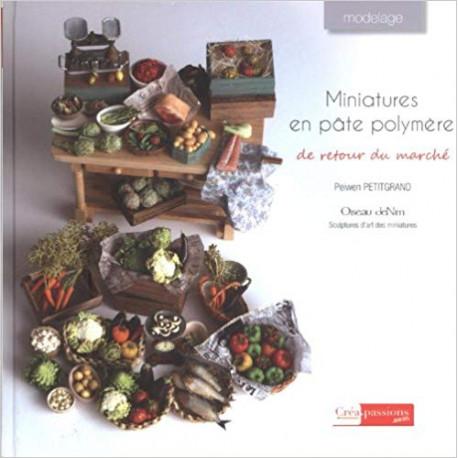 Miniatures en pâte polymère - De retour du marché