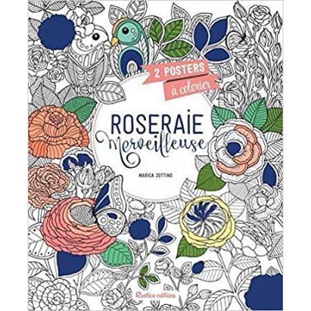 Roseraie merveilleuse - 2 posters à colorier