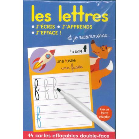 J'écris, j'apprends, j'efface les lettres