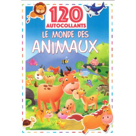 120 autocollants Le monde des animaux