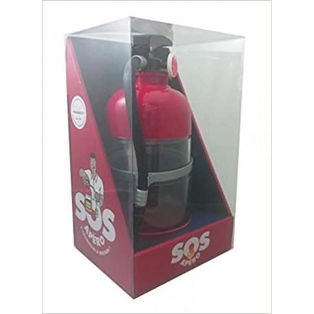 SOS apéro - Coffret avec 1 extincteur à boisson (1,5 L)