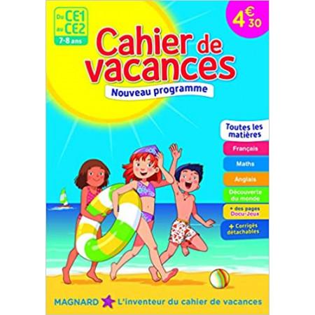 Cahier de vacances - Du CE1 au CE2 - 7-8 ans