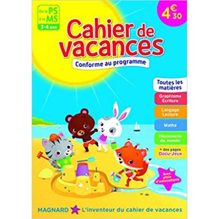 Cahier de vacances - De la PS à la MS - 3-4 ans