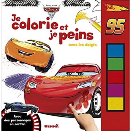 Je colorie et je peins avec les doigts Cars 3