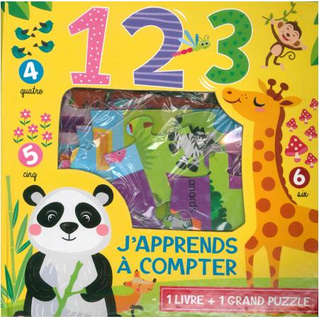 Coffret J'apprends à compter 1 livre + 1 grand puzzle