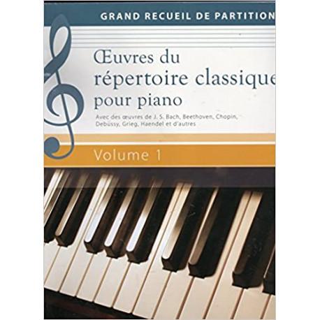 Oeuvres du répertoire classique pour piano Volume 1 - Grand recueil de partitions