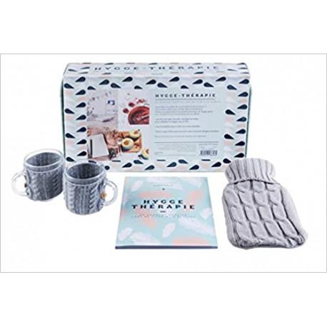 Hygge thérapie ou comment adopter l'art de vivre à la danoise - Coffret avec 2 mugs et 1 bouillote