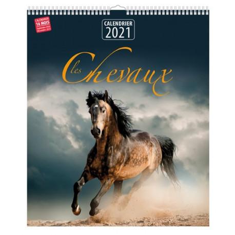 Calendrier 2021 - Les chevaux