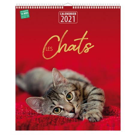 Calendrier 2021 - Les chats