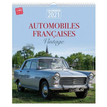 Calendrier 2021 - Automobiles françaises vintage