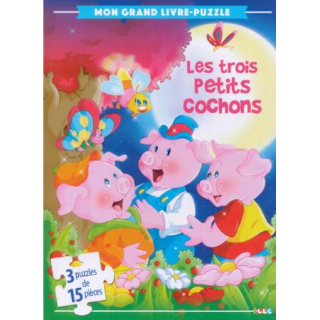 Mon grand livre-puzzle Les 3 petits cochons