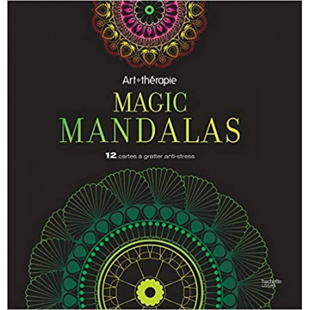 Magic Mandalas - 12 cartes à gratter anti-stress