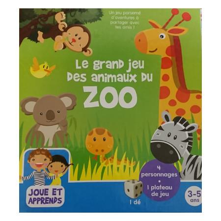 Boîte de jeux Le grand jeu des animaux du Zoo 3-5 ans