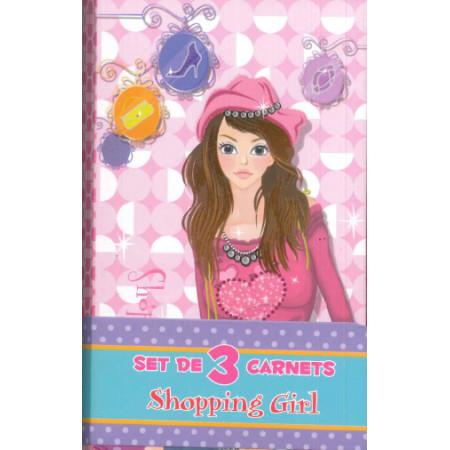 Shopping girl - Set de 3 carnets.