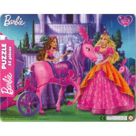 Barbie et le palais de diamant (cheval) ! Puzzle 35 pièces