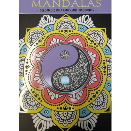 Du temps pour soi Coloriages relaxants Mandalas sur fond noir
