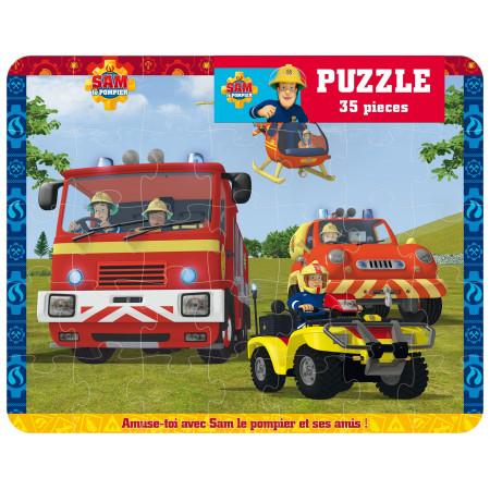 Puzzle 35 pièces Sam le pompier (hélicoptère)